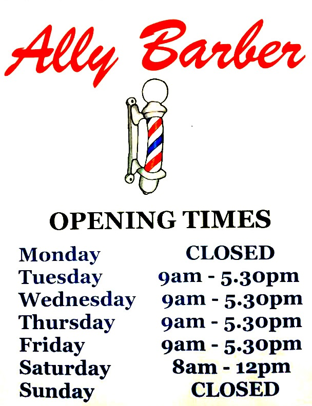 Barber Open Sunday : Ally Barber Cairns The fun and friendly barber in Redlynch
